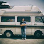 Lorenzo Scaraggi in giro per l'Europa con il suo Vostok.