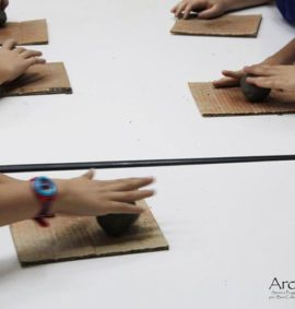 Laboratorio archeologico argilla mattoni