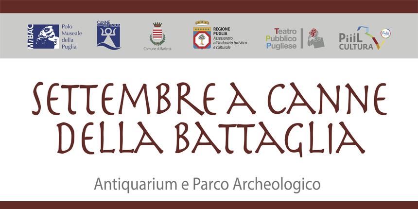 CANNE della battaglia 8 settembre 2018 teatro pubblico pugliese